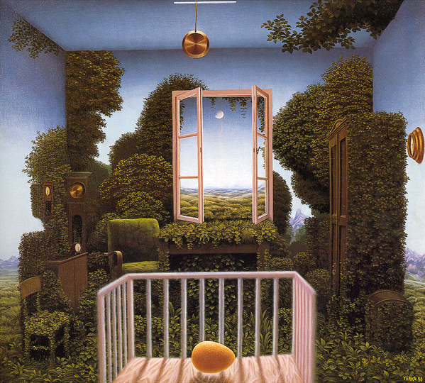 © Jacek Yerka, Twilight in the nursery. www.yerka.org.ru